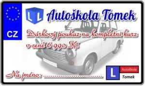 Poukazy - Autoškola Tomek Brno